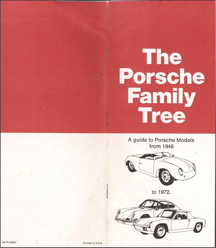 The Porsche Family Tree Usa Origineel Publiciteitsmateriaal Swb T M 1968 2 Bijzonder Foto