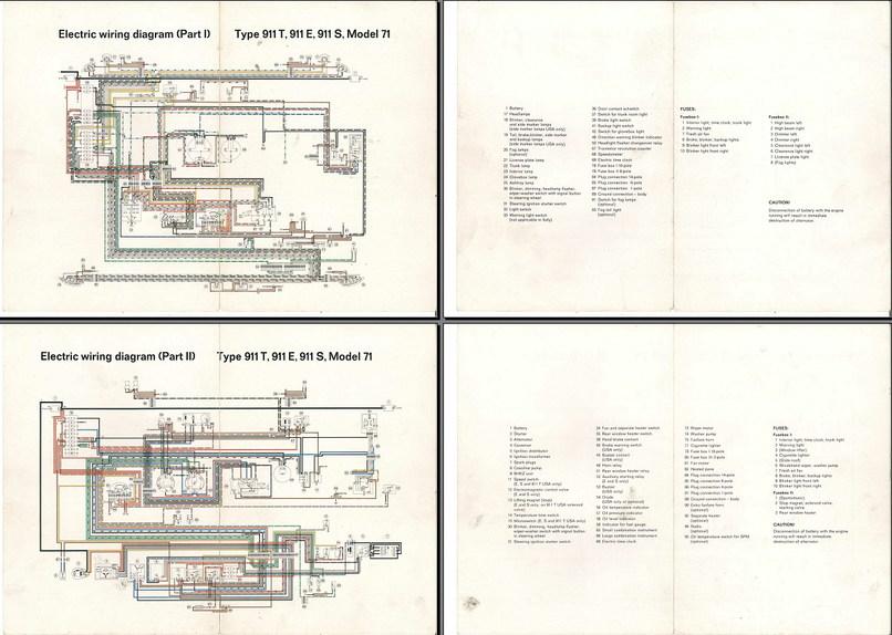 Electric Wiring    Diagram       911     1971   Elektrische installatie  Techniek  Alles over de    911    en
