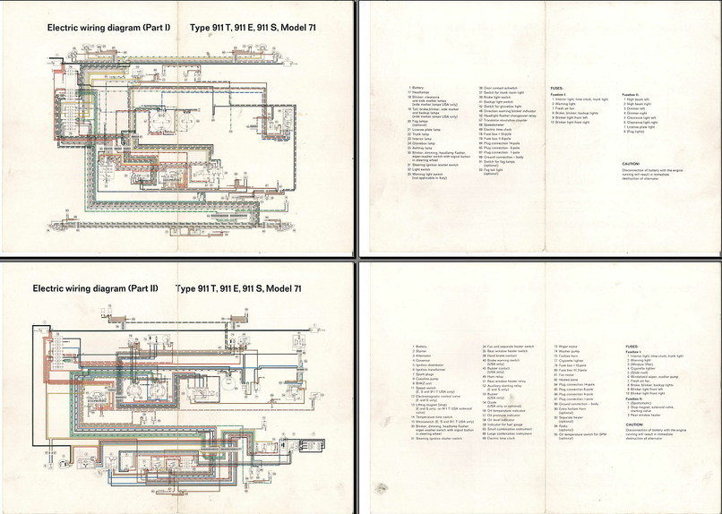 Electric Wiring Diagram 911  1971  - Elektrische Installatie - Techniek