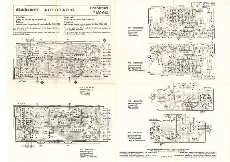 Schema Blaupunkt Frankfurt mono&stereo (\'72) - Elektrische ...