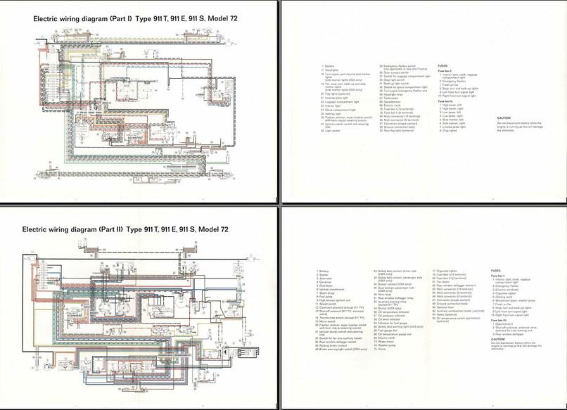 Electric Wiring Diagram 911  1972   Elektrische